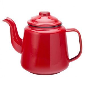 Eagle Enamel Red Teapot 32oz / 1ltr