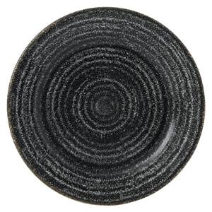 Studio Prints Homespun Rimmed Plate Charcoal Black 8.25inch / 21cm