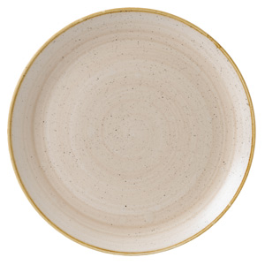 Churchill Stonecast Nutmeg Cream Coupe Plate 12.7inch / 32.4cm