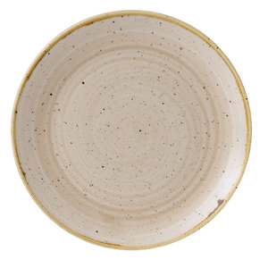 "Churchill Stonecast Nutmeg Cream Coupe Plate 8.25"" / 21.7cm"