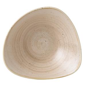 "Churchill Stonecast Nutmeg Cream Triangular Bowl 9.25"" / 23.5cm"