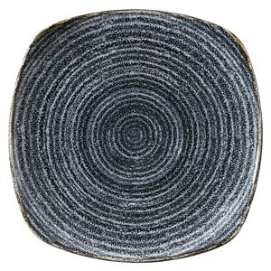 Studio Prints Homespun Square Plate Charcoal Black 10inch / 25.2cm