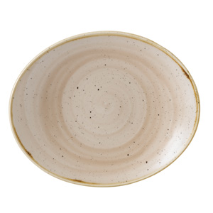 "Churchill Stonecast Nutmeg Cream Oval Coupe Plate 7.5"" / 19.2cm"