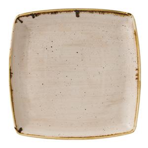 "Churchill Stonecast Nutmeg Cream Deep Square Plate 10.5"" / 26.8cm"