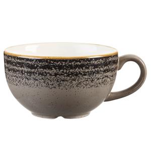 Studio Prints Homespun Cappuccino Cup Charcoal Black 8oz / 227ml