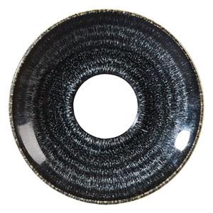 Studio Prints Homespun Cappuccino Saucer Charcoal Black 6.25inch / 15.6cm