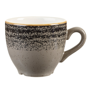 Studio Prints Homespun Espresso Cup Charcoal Black 3.5oz / 100ml