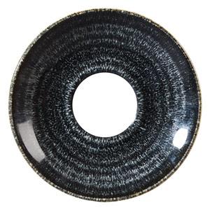 Studio Prints Homespun Espresso Saucer Charcoal Black 4.5inch / 11.8cm