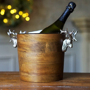 Huntsman Stag Head Wooden Wine Cooler
