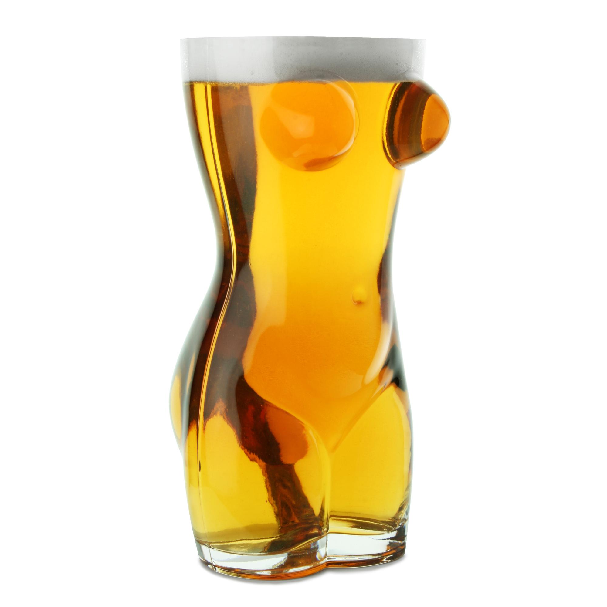Sexy torso beer glass 2 5 pint drinkstuff for Glass 2 glass