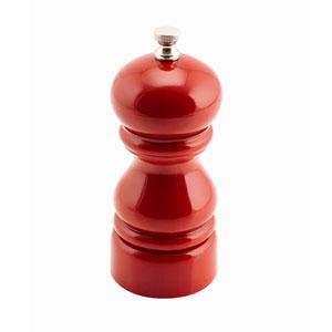 Genware Red Salt Or Pepper Grinders 12.7cm