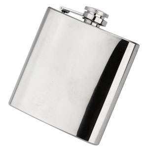 Classic Stainless Steel Hip Flask 6oz / 170ml