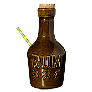 Rum Bottle Tiki Mug Green 12oz / 350ml