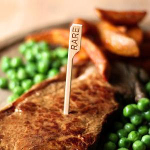 Bamboo Steak Picks 3.5inch Rare