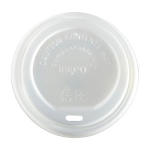 Compostable Domed Sip Lid To Fit 95mm Paper Cups