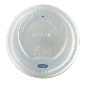 Compostable Domed Sip Lid To Fit 70mm Paper Cups