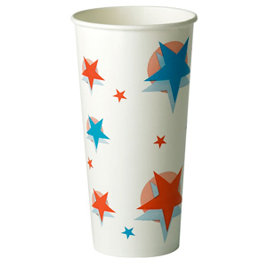 Star Design Paper Cups 22oz / 630ml
