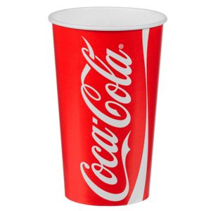 Coca Cola Paper Cups 16oz / 450ml