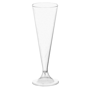Disposable Plastic Champagne Flutes 4.2oz / 120ml