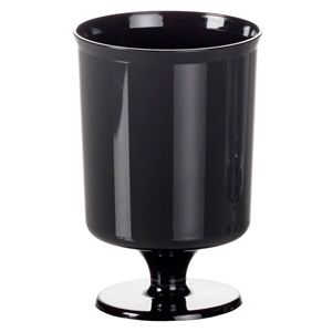 Disposable Plastic Wine Glasses Black 5.6oz / 160ml