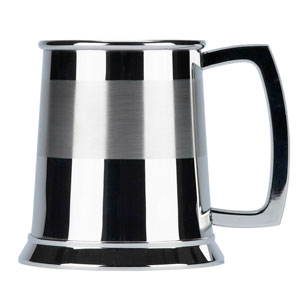 Devon Satin Band Stainless Steel Pint Tankard 20oz / 568ml