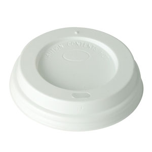 Compostable White Domed Sip Lid To Fit 65mm Paper Cups