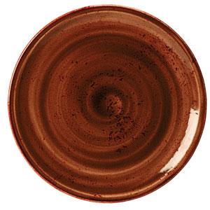 "Steelite Craft Coupe Plate Terracotta 10"" / 25.25cm"