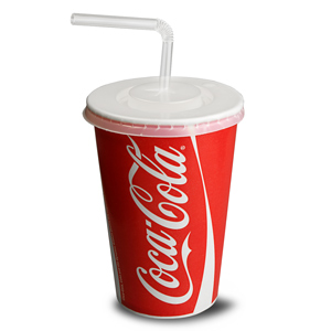 Coca Cola Paper Cups Set 16oz / 450ml