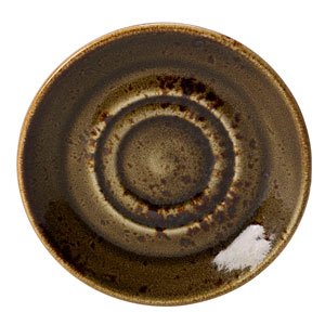 "Steelite Craft Double Well Saucer Brown 5.75"" / 14.5cm"