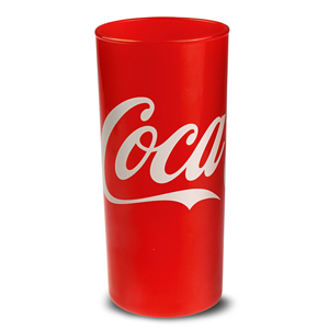 Classic Red Coca Cola Highball Glasses 9oz / 270ml