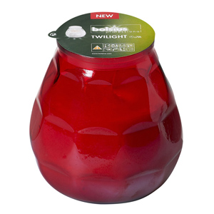 Twilight Glass Candle Red