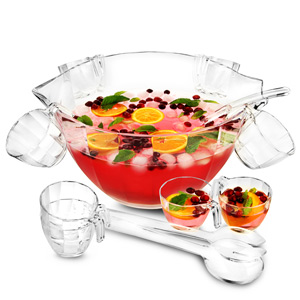 Glacier Acrylic Punch Bowl Set 7.6ltr