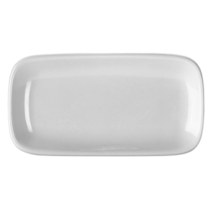 Royal Genware Rectangular Rounded Edge Plate 19.5 x 10cm