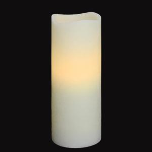 Wave Rim Crystal LED Candle Ivory 8.5inch