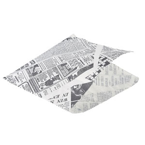 Greaseproof Newspaper Printed Presentation Bags 17.5cm