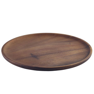 Acacia Wood Serving Plate 26cm