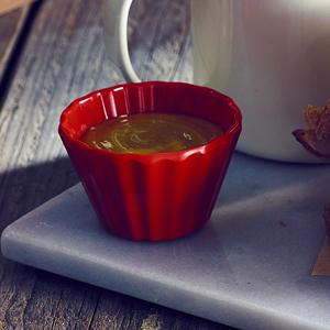 Genware Cupcake Melamine Ramekin Red 3oz / 90ml