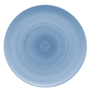 Modern Rustic Coupe Plate Blue 26cm