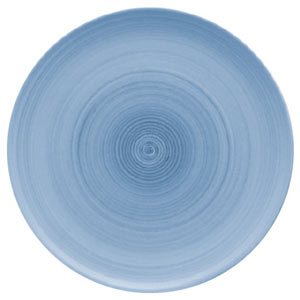 Modern Rustic Coupe Plate Blue 32cm