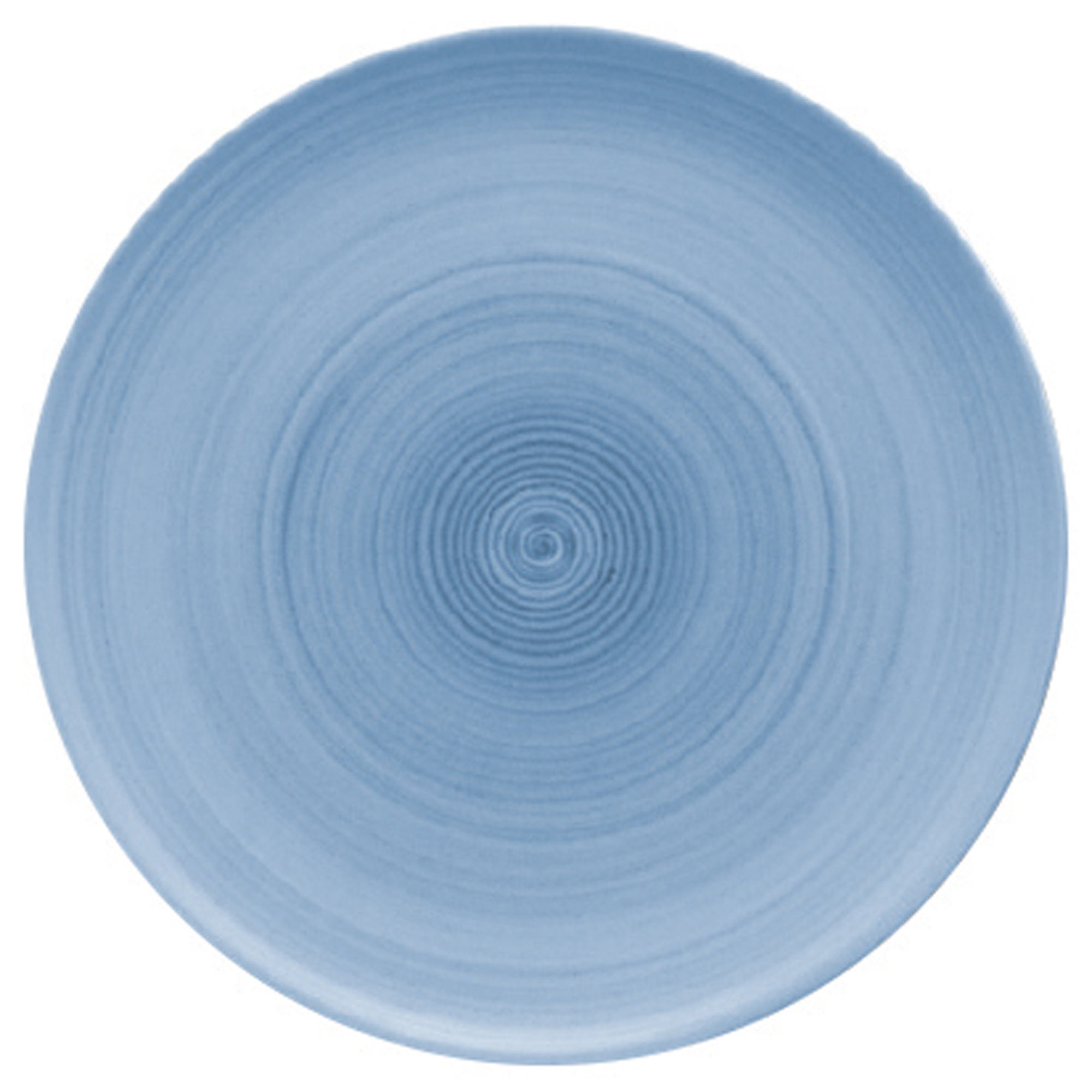 Modern Rustic Coupe Plate Blue At Drinkstuff