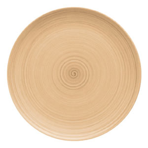 Modern Rustic Coupe Plate Sand 28cm