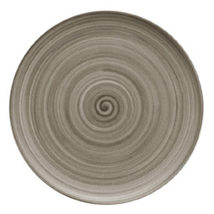 Modern Rustic Coupe Plate Wood 15cm