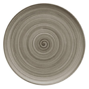 Modern Rustic Coupe Plate Wood 20cm