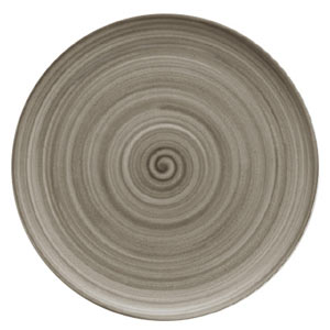 Modern Rustic Coupe Plate Wood 28cm