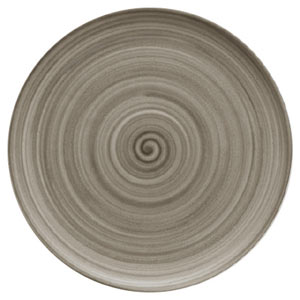 Modern Rustic Coupe Plate Wood 32cm