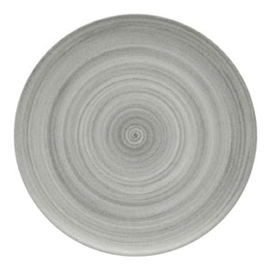 Modern Rustic Coupe Plate Grey 15cm