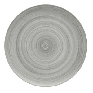 Modern Rustic Coupe Plate Grey 20cm
