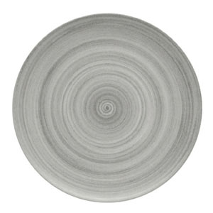 Modern Rustic Coupe Plate Grey 26cm