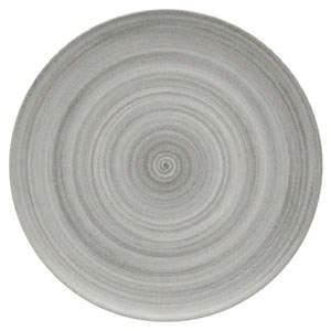 Modern Rustic Coupe Plate Grey 32cm