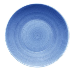 Modern Rustic Deep Coupe Plate Blue 24cm